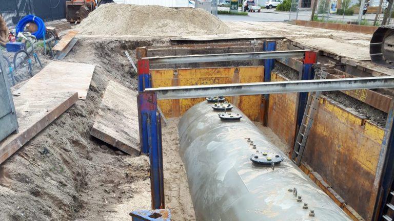 Leendertse Bronbemaling - project ondergrondse brandstoftank - Ouderkerk aan den IJssel