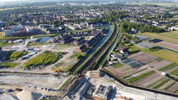 Leendertse Bronbemaling - project Spooronderdoorgang - Voorhout
